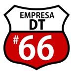 Tomando como base la legendaria ruta 66 de EEUU, se intervino artísticamente el ícono para representar a la empresa en el DT (la empresa número 66 en radicarse)